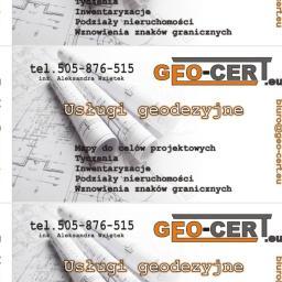 GEO-CERT Usługi Geodezyjne inż.Aleksandra Wziętek - Geodeta Czeladź
