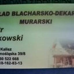Zakład Blacharsko Dekarsko Murarski Piotr Dzikowski - Ocieplanie poddaszy Kalisz