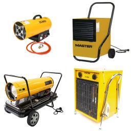 Osuszacz powietrza, nagrzewnica gazowa, nagrzewnica olejowa, nagrzewnica elektryczna