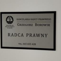 Kancelaria Radcy Prawnego Grzegorz Borowik Lublin, ul Droga Męczenników Majdanka 74/216A 20-325 Lublin tel. 665655428