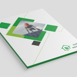 Projekt i wydruk teczek firmowych dla OZE squad