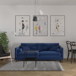 dark blue sofa - Projekty Małych Domów Lublin