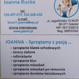 Firma sprzątająca JOANNA - Usługi Odśnieżania Gdańsk