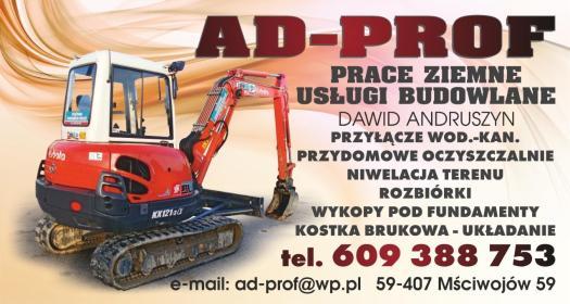AD-PROF Prace Ziemne I Usługi Budowlane Dawid Andruszyn - Ziemia ogrodowa Mściwojów