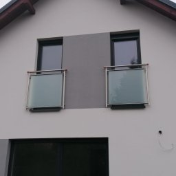 Okna Francuzy , Aluminium i wypełnienie szklane