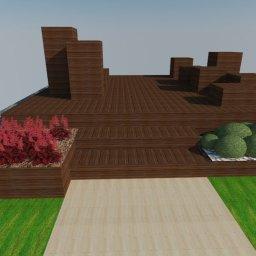 Wizualizacja konstrukcji patio