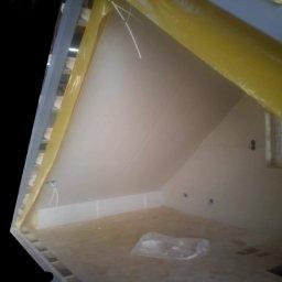 Szkielet domku modułowego jak widać efekty prawie końcowe