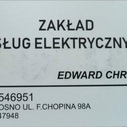 Zak艂ad Us艂ug Elektrycznych Edward Chrobak - Remontowanie Mieszka艅 Krosno