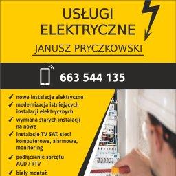 USŁUGI ELEKTRYCZNE JANUSZ PRYCZKOWSKI - Wykonanie Instalacji Elektrycznych Sierakowice