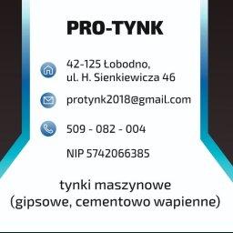 PRO-TYNK Tynki Maszynowe - Tynki Maszynowe Łobodno