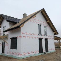 Okna Veka Softline 82, rolety zewnetrzne natynkowe, montaz - budynek w konstrukcji szkieletowej