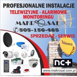 Makrosat - Anteny, Alarmy, Kamery, CB Radia, NC - Systemy alarmowe Toruń