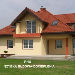 SZYBKA BUDOWA-DOCIEPLENIA - Elewacja Domu Parterowego Grodzisk Mazowiecki