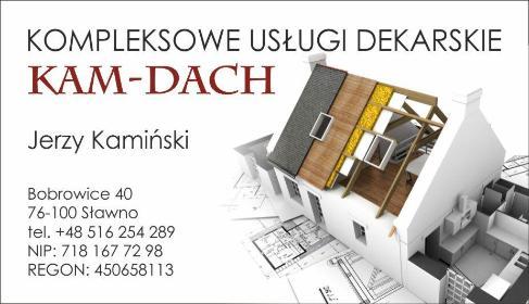 """Kompleksowe usługi dekarskie """"Kam-Dach"""" - Malarz Sławno"""