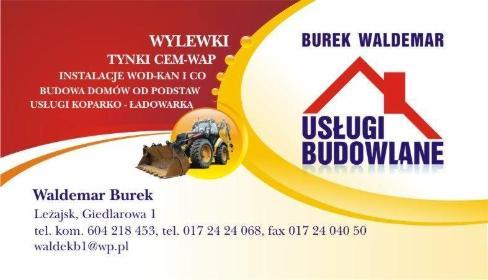 Usługi Budowlane Waldemar Burek - Posadzki jastrychowe Leżajsk