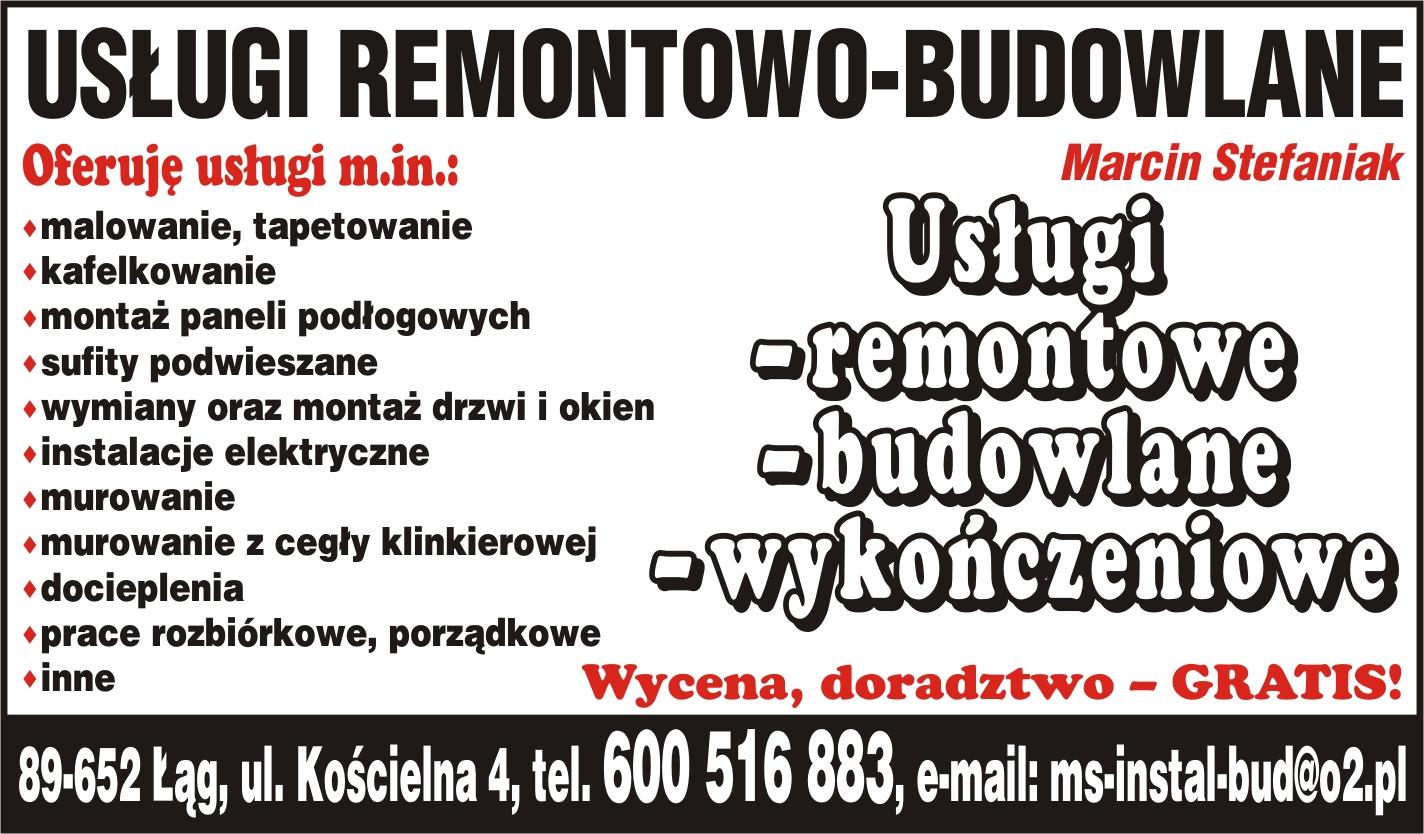 OFERTY REMONTOWO BUDOWLANE