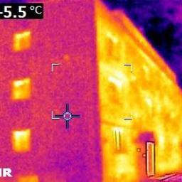 Ekspertyza-badanie kam. termowizyjną blok mieszkalny- docieplenie ściany szczytowej-2016