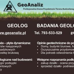 GeoAnaliz Profesjonalna Ocena Przydatności Terenu Budowlanego - Geolog Zielonki
