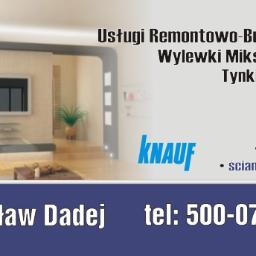 Usługi Remontowo Budowlane Mirosław Dadej - Budownictwo Kock