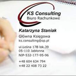 """Biuro Rachunkowe """"KS Consulting"""" Katarzyna Staniak - Doradca podatkowy Jabłonna"""