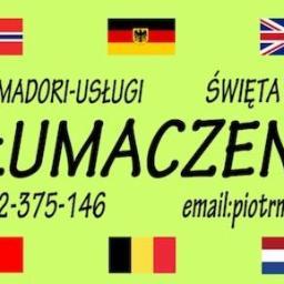 JAMADORI-USŁUGI Piotr Mańkowski - Tłumaczenie Angielsko Polskie Radawnica