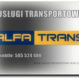 Transport przeprowadzki bagażówka usługi transportowe taxi bagażowe do 20m3 z windą załadowczą VAT