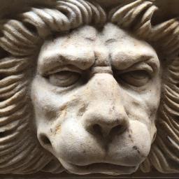 Rzeźba głowa lwa na profilu, obiekt zamek Berliński