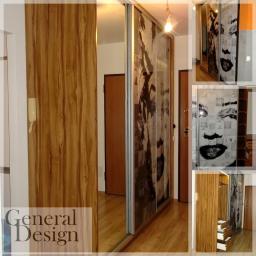 Ekskluzywne szafy, grafika na szkle