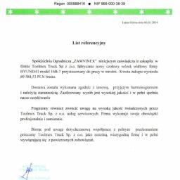 Referencje Spółdzielnia Ogrodnicza ZAMVINEX