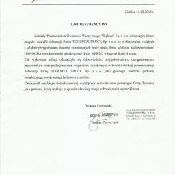 Referencje Zakłady Przetwórstwa Owocowo-Warzywnego