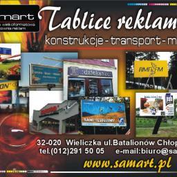 Pracownia reklam Drukarnia wielkoformatowa SamArt - Projektowanie logo Wieliczka