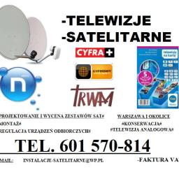 Instalacje telewizji satelitarnej i naziemnej - Instalowanie sprzętu RTV, AGD Zielonka