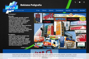 Alva 1. Reklama, poligrafia, druk wielkoformatowy - Naklejki Ruda Śląska