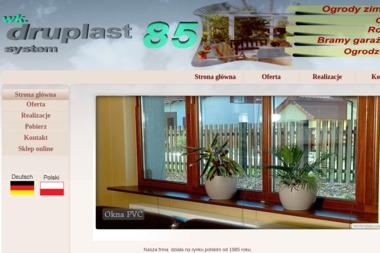 W.K. Druplast-85. Okna, drzwi, ogrody zimowe,ogrodzenia,zabudowy balkonów, rolety,schody,kolektory - Firma Fotowoltaiczna Szczecin