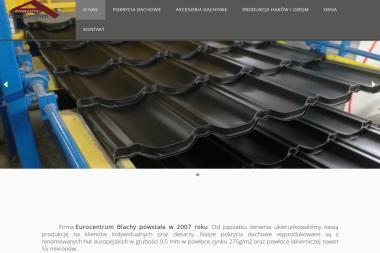 EuroCentrum Blachy. Blachodachówka, gąsiory, akcesoria dachowe. Produkcja i sprzedaż - Cieśla Promna Kolonia 58