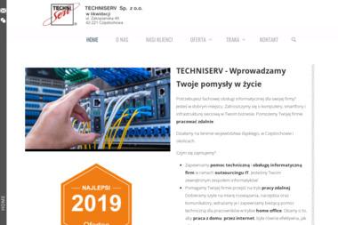 Techniserv. Sp. z o.o. Systemy sieciowe, usługi projektowe, oprogramowanie - Sieci komputerowe Częstochowa
