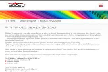 Bulbo. Ksero. Ksero kolorowe, wydruki wielkoformatowe - Drukowanie Naklejek Warszawa