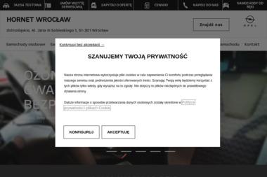 Hornet. Sp. z o.o. Salon samochodowy i serwis. Autoryzowany dealer Opla - Sprzedawcy samochodów dostawczych Wrocław
