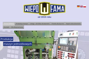 Wiepofama SA. Fabryka obrabiarek specjalnych - Urządzenia precyzyjne Poznań
