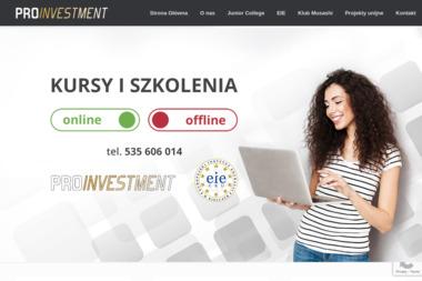 Pro Investment. Doradztwo Inwestycyjne - Dotacje UE Kraków