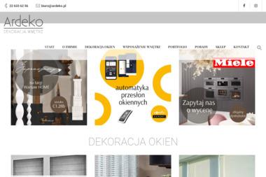 Ardeko. Dekoracja okien. Rolety, firanki - Dekorator wnętrz Warszawa