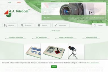 A.J. Telecom. Sp. z o.o. Alarmy, systemy zabezpieczające, telewizja przemysłowa - Systemy Alarmowe dla Firm Sosnowiec