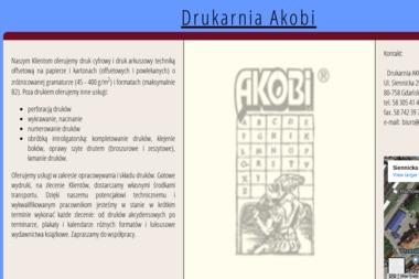 Akobi. Drukarnia - Druk Naklejek Gdańsk
