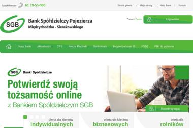 Bank Spółdzielczy Pojezierza Międzychodzko - Sierakowskiego - Rachunki bankowe Sieraków