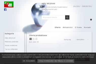 Dentex. Sp. z o.o. Producent zębów akrylowych - Sprzęt rehabilitacyjny Zduńska Wola