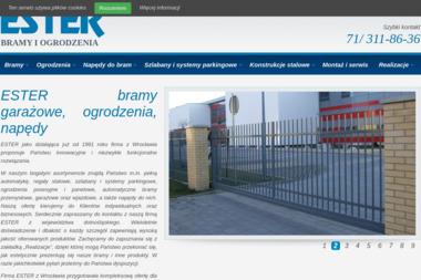 Ester. Bramy garażowe, ogrodzenia, automatyka - Nowoczesne Ogrodzenia Metalowe Wrocław (Małuszów)