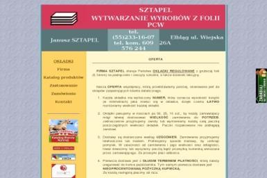 Sztapel Janusz. Wytwarzanie wyrobów z folii PCW - Dostawy wody Elbląg