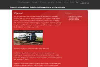 O艣rodek Centralnego Szkolenia Maszynistów Ministerstwa Gospodarki - Kurs Pierwszej Pomocy Przedmedycznej Wroc艂aw