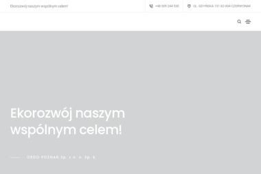 Ordo. Przedsiębiorstwo usług komunalno - transportowych - Oczyszczanie ścieków, uzdatnianie wody Poznań