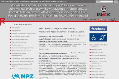 Państwowa Agencja Rozwiązywania Problemów Alkoholowych - Terapia uzależnień Warszawa